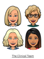 Bitmoji images of the Clermont clinical team.