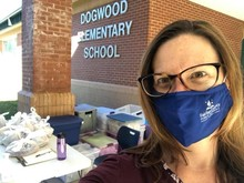 Volunteering at Dogwood ES