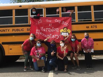Herndon ES delivering school supplies