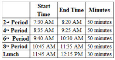 103020 Early Release Schedule StoneMS