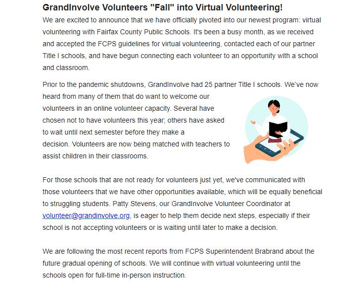 GrandInvolve Volunteer Update
