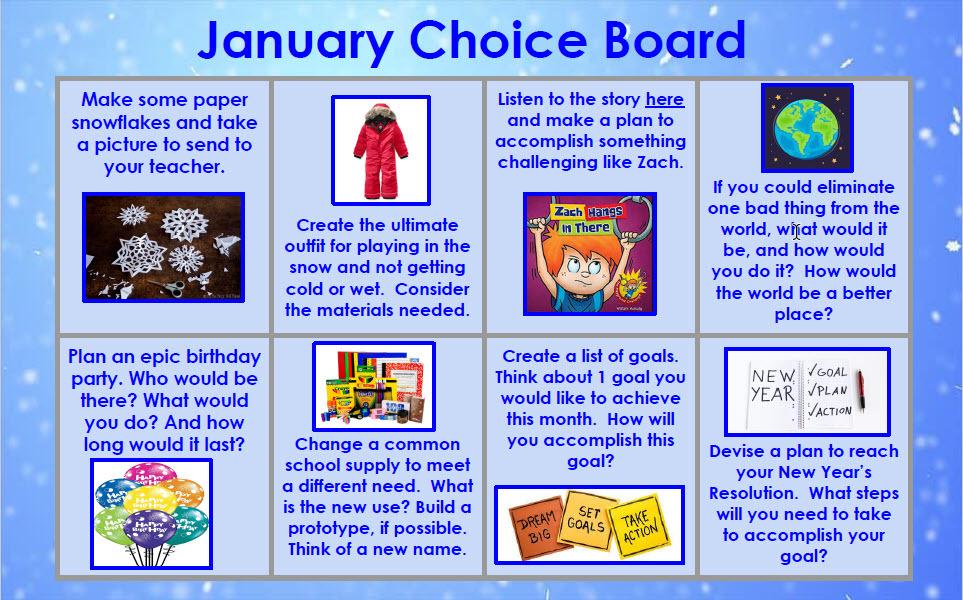 January choice board