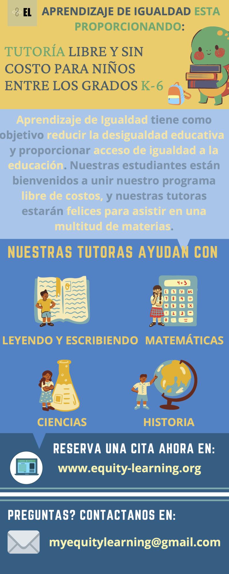 Free tutoring information