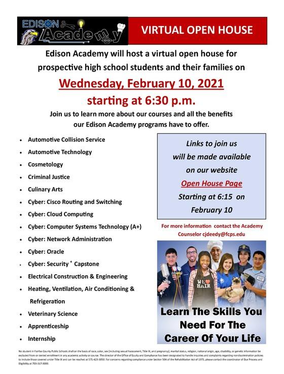 Edison Academy Open House