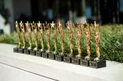 employee awards on table