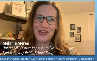 Screenshot of Melanie Meren, from MLK Day video