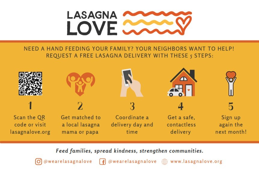 lasagna love flyer