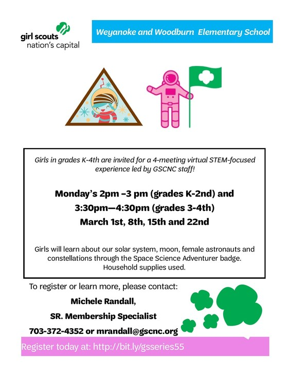 Girl Scouts Event Flyer