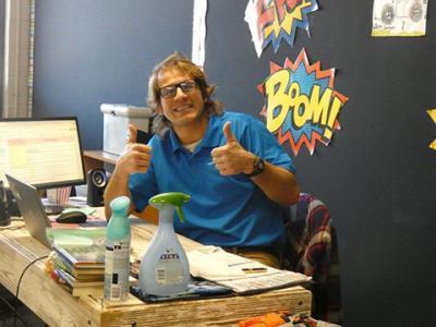 Union Mill ES teacher shows his enthusiasm