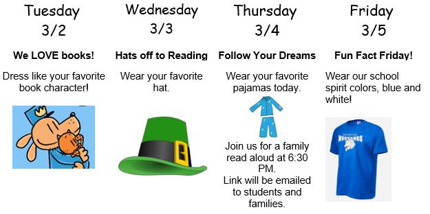 Celebrate Read Across America Week, March 2-5