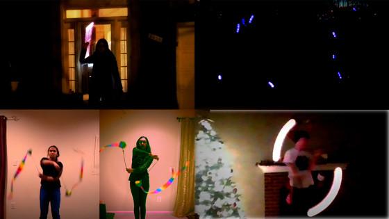 Screenshots from Poi Club performance