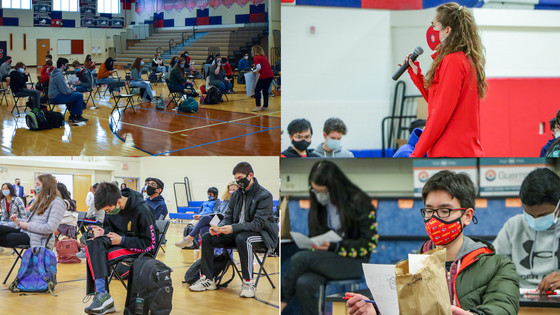 Collage of Photos from Return to School on March 4