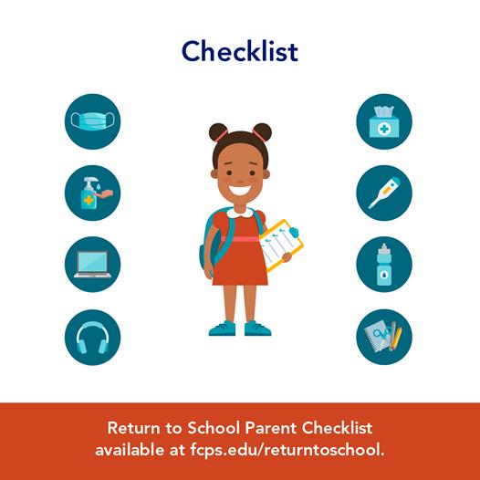 Return to School Parent Checklist