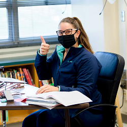masked teacher