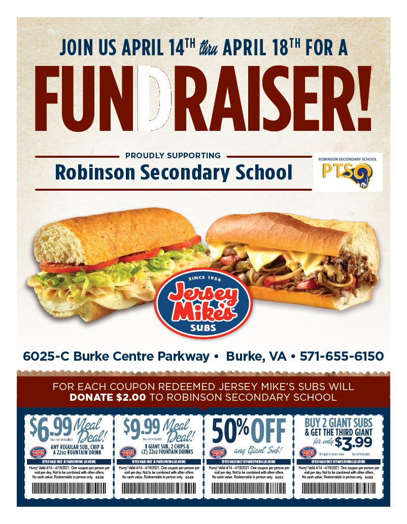 Jersey Mikes Fundraiser
