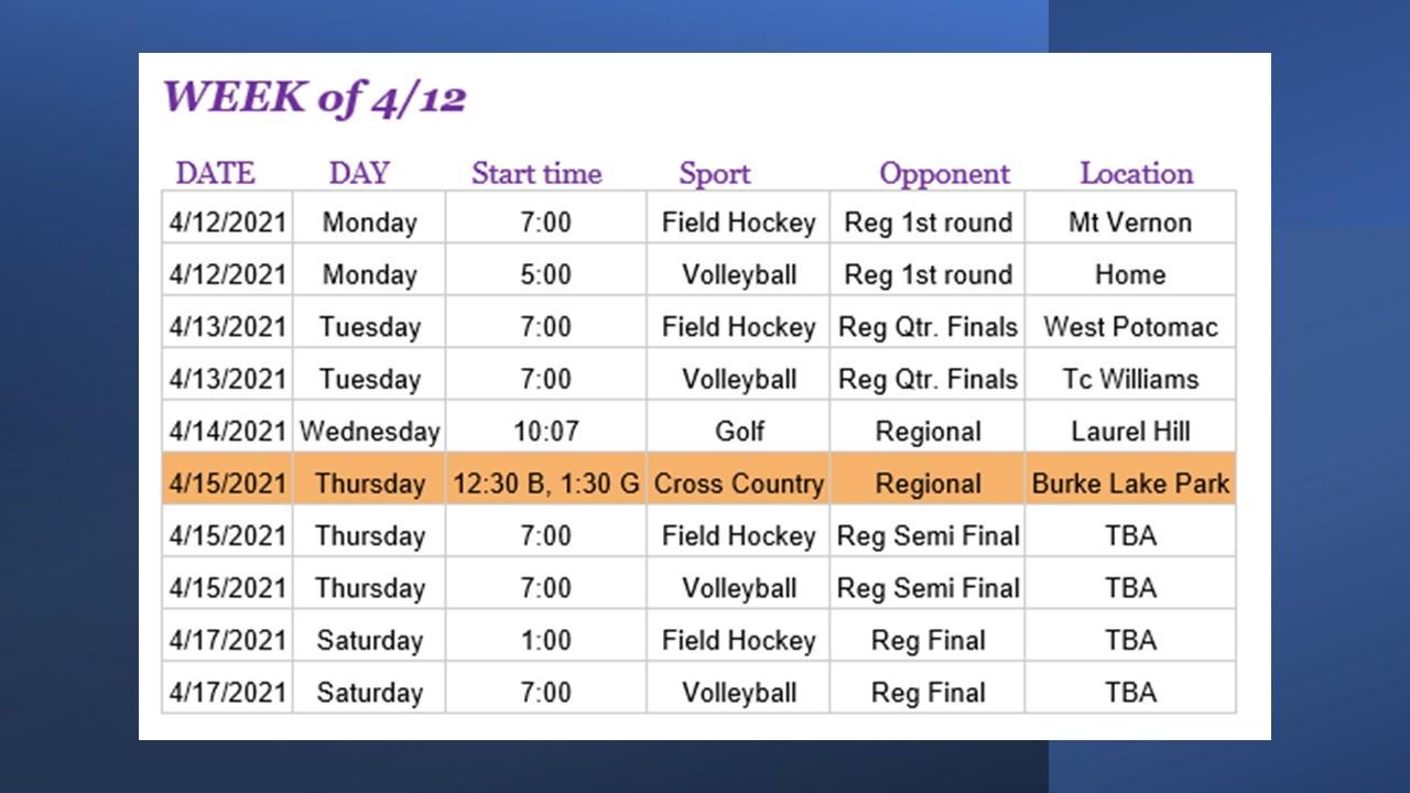 04122021 Athletics Schedule