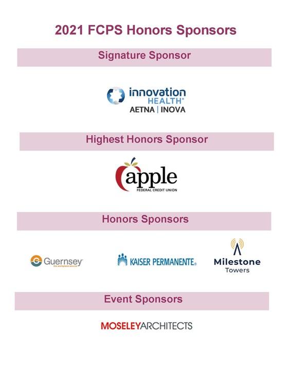 Honors Sponsor Logo sheet