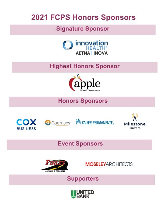 Honors sponsor listing with logos
