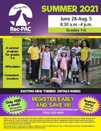 County summer camp flier