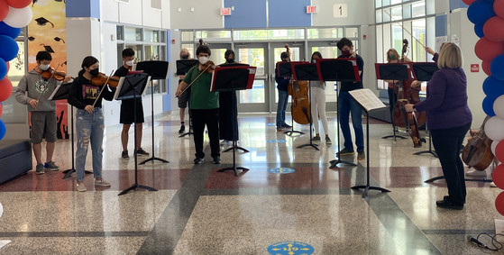 Orchestra performing for Staff Appreciation