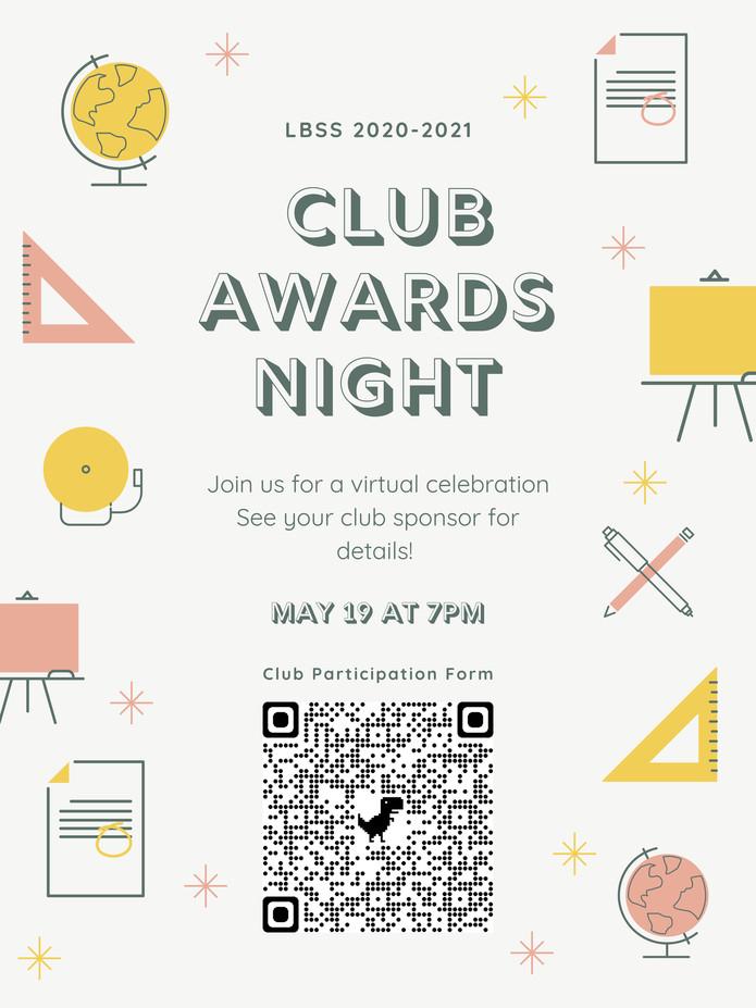 2020-2021 Club Awards Night