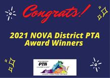 NOVA PTA award winners congratulations graphic