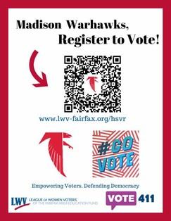 QR code for Madison high school voter registration