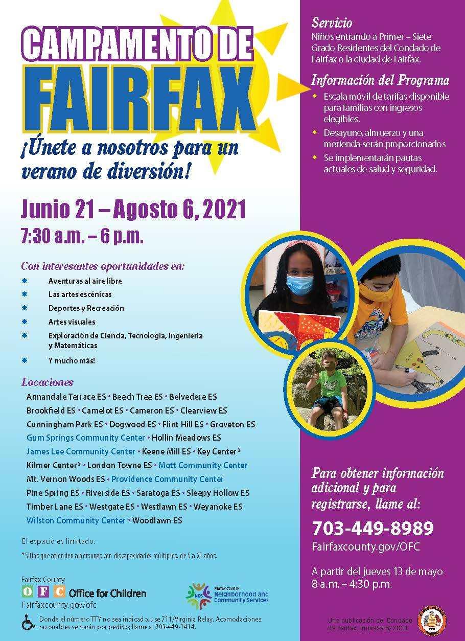 camp fairfax spanish
