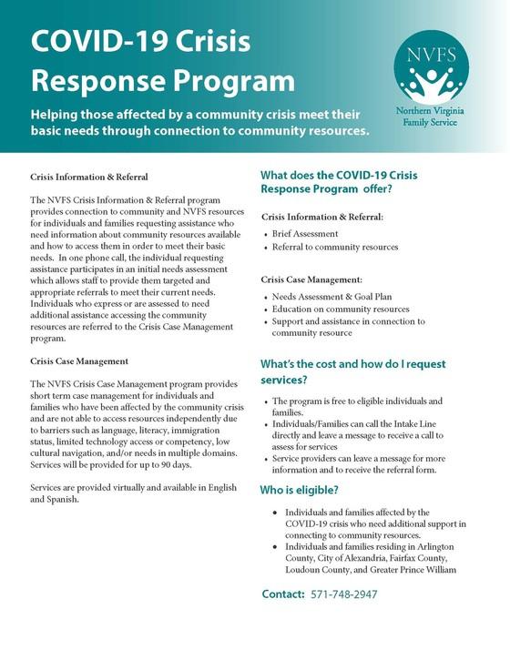COVID-19 Crisis Response