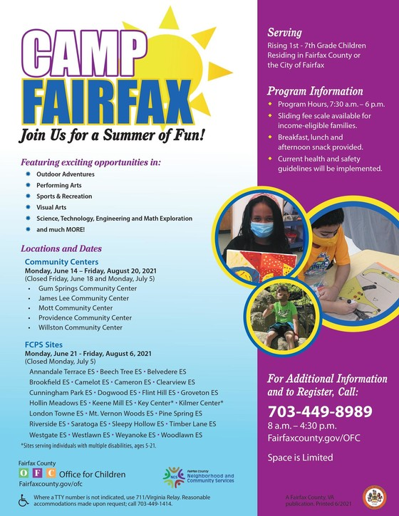 Camp Fairfax 2021 Flyer