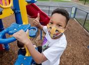 masks on playground