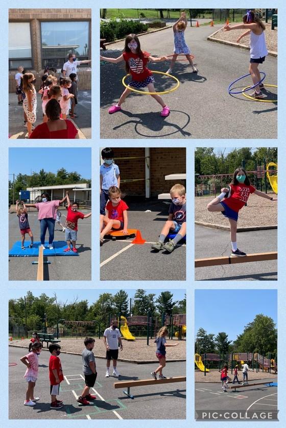 Summer school olympics collage