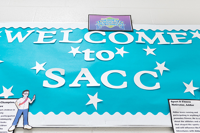 Welcome to SACC sign