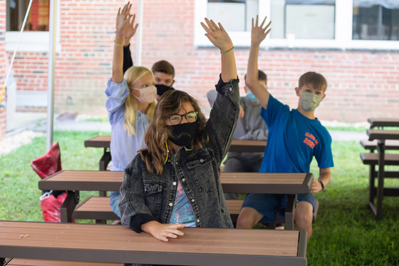 Outdoor classroom at Irving Middle School