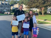 Family comes to together to see kids off to school