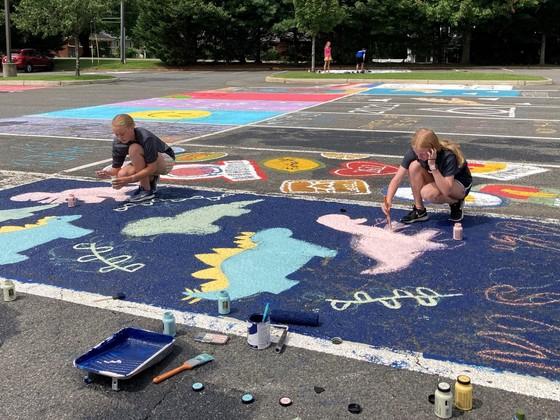 Senior Parking Spot Painting