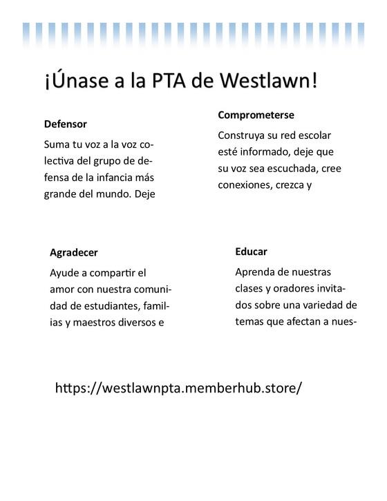 PTA Flyer Espanol