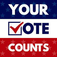 Your vote counts graphic