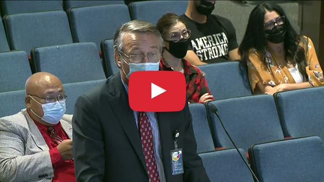 Superintendent  Brabrand speaking to School Board