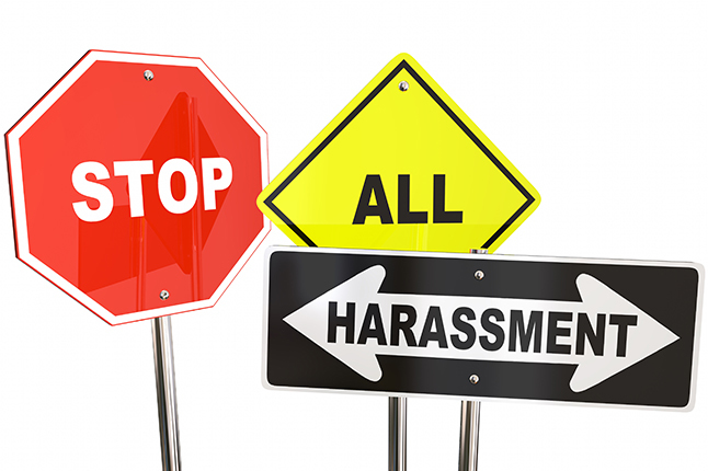 Stop all harassment signs