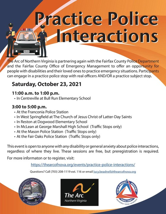 Practice police interactions flyer