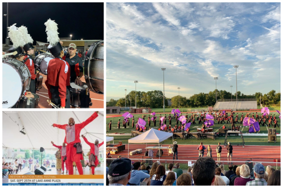 Collage of pictures from band festival