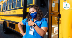 FCPS bus driver giving a thumbs up