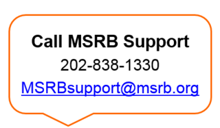 MSRB Support