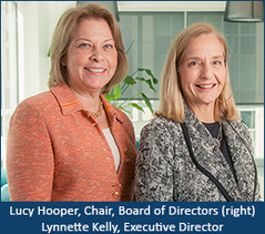 Lucy Hooper, Board Chair & Lynnette Kelly, Executive Director