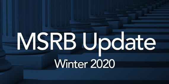 Winter MSRB Update TEST