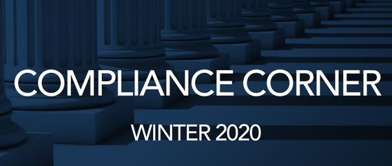 Compliance Corner Winter 20