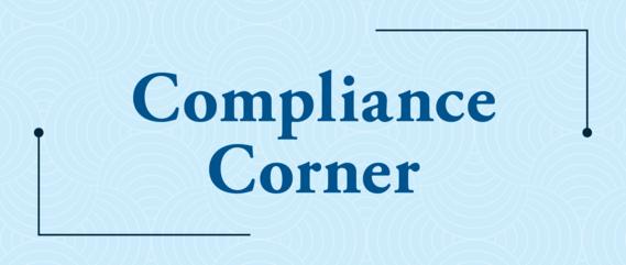 Compliance Corner Banner