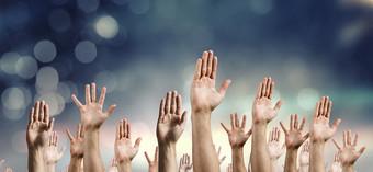 Volunteer hands header
