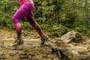 Muddy running on trail